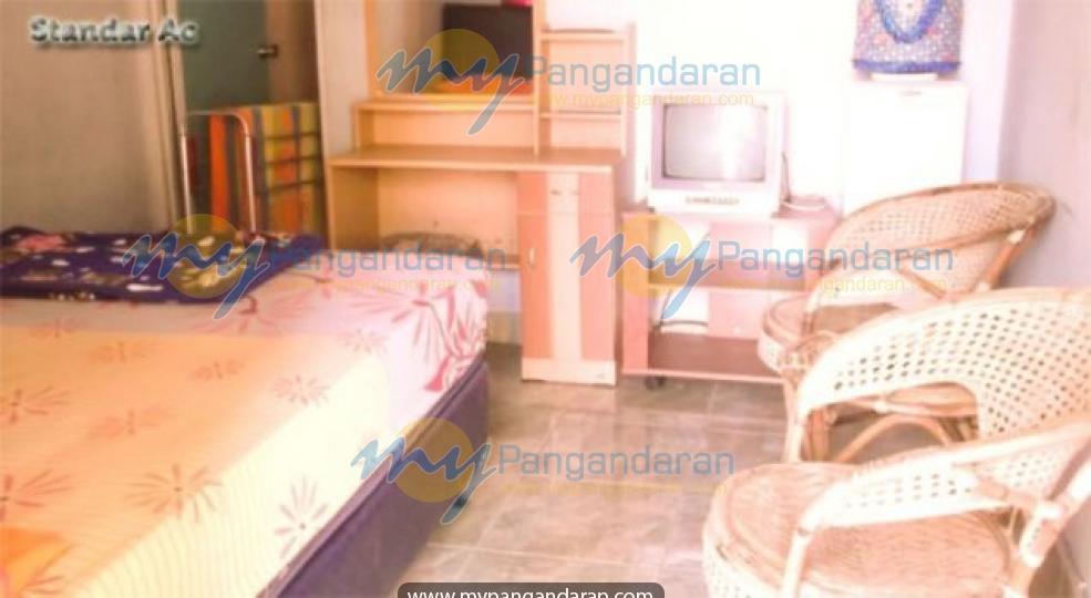 Tampilan kamar tidur  Mandiri Hotel